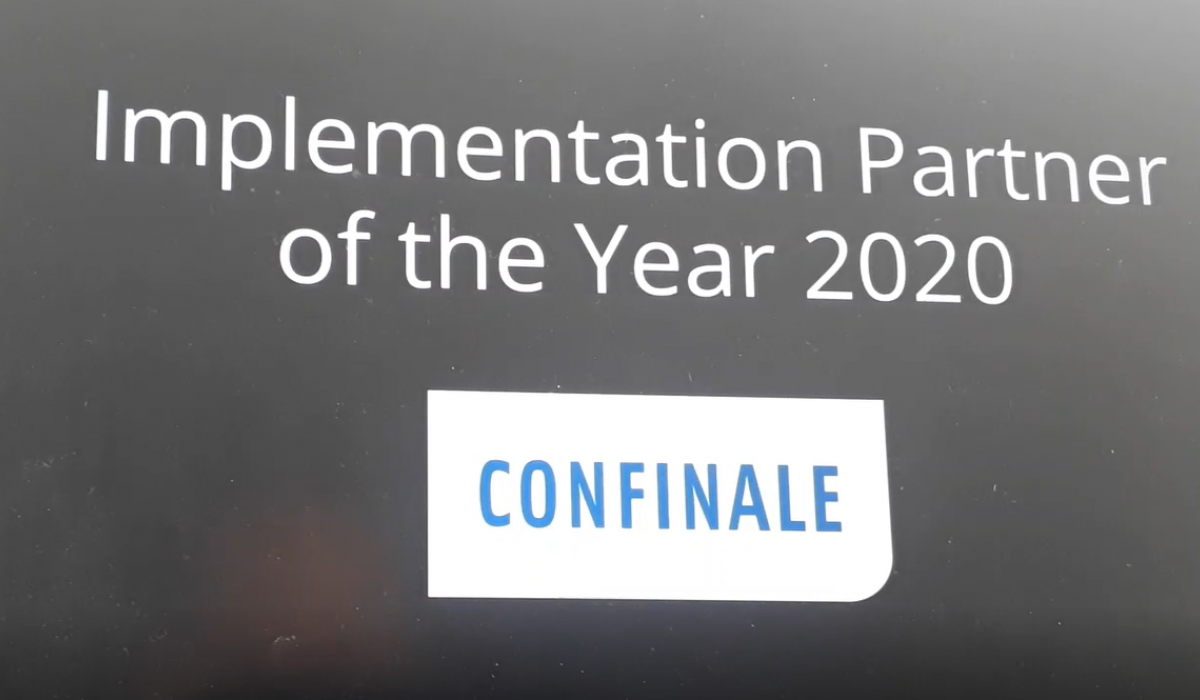 Avaloq Implementation Partner of the year 2020 - printscreen